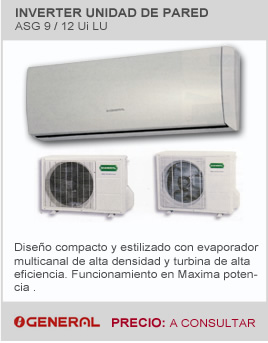 Aire acondicionado de pared marca General