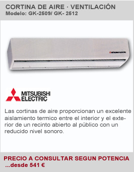 Cortina de Aire Mitsubishi Electric